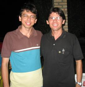 Mário Gérson, de camisa colorida, e Gutemberg Dias, de camisa preta.